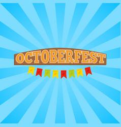 oktoberfest promo banner vector image