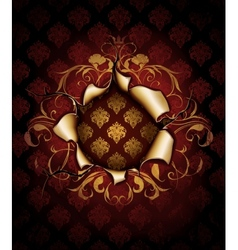 Paper Luxury Frame red vector image vector image