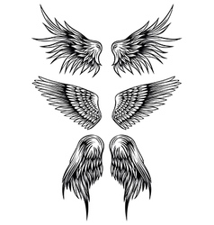 wings set 7 vector image