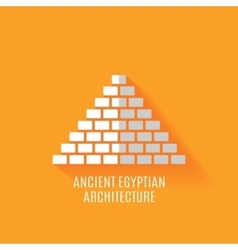 Ancient Egyptian architecture Icon vector image vector image