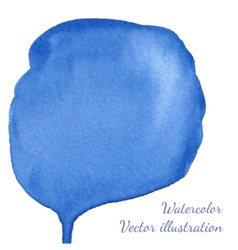 Blue watercolor blot vector image vector image