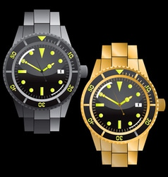 chronograph watches vector image vector image