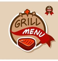 grill menu logo 2 vector image vector image