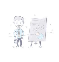 man business presentation vector image vector image