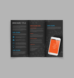 modern three fold brochure design template vector image