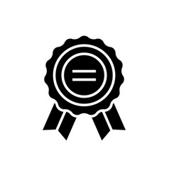 award icon black sign on vector image