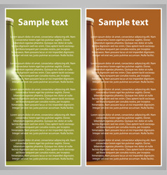 beer flyer vector image vector image