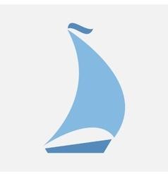 boating logo sailing vector image vector image