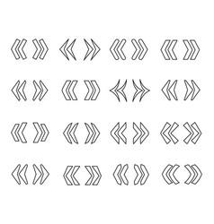 guillemets line icon set vector image