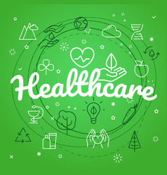 Healthcare concept different thin line icons vector
