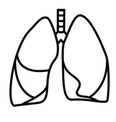 human lungs symbol vector image vector image