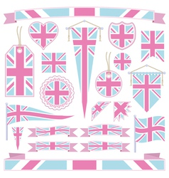 pink and blue uk vector image vector image