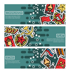 set of horizontal banners about communism vector image vector image