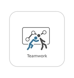 Teamwork Icon Flat Design vector image vector image