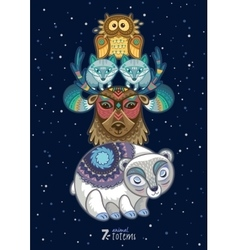 wild totem animal Polar vector image vector image