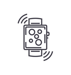 wireless smart watch line icon sign vector image vector image