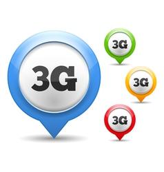 3G Icon vector image vector image