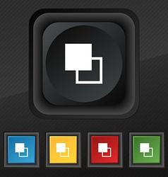 Active color toolbar icon symbol Set of five vector image vector image