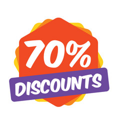 70 off discount promotion sale sale promo market vector image
