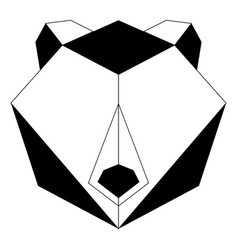 abstract low poly bear icon vector image