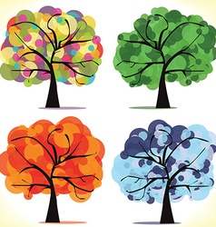 abstract seasonal trees vector image