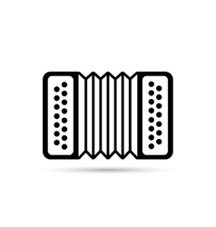 Accordion flat icon isolated on background vector image