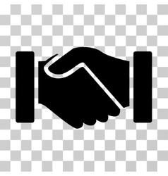 Acquisition handshake icon vector