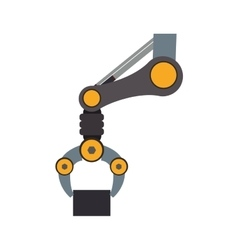 arm robot technology android metal icon vector image