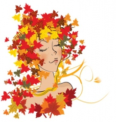 autumn weather vector image