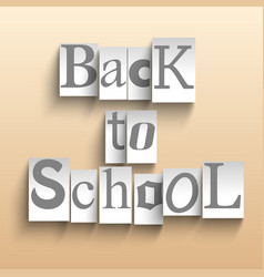 back to school words vector image
