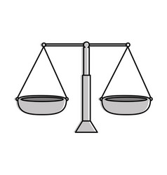 balance measure isolated icon vector image