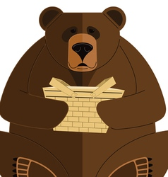 Bear with Basket vector image
