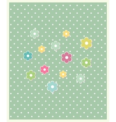 Beautiful baby floral greeting card vector image