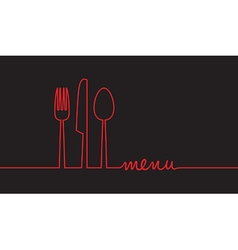 black and red menu vector image