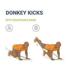Black man doing donkey kick home workout exercise vector