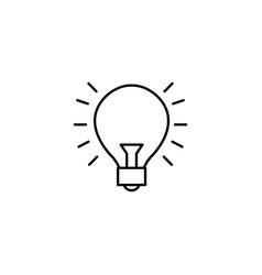 bright light bulb idea icon line style vector image
