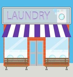 Building laundry flat design vector