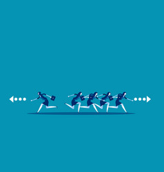 business people running and direction to vector image