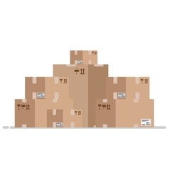 Cardboard boxes Move service box vector image