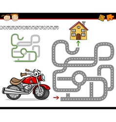 Cartoon maze or labyrinth game vector