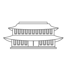 china temple icon outline style vector image