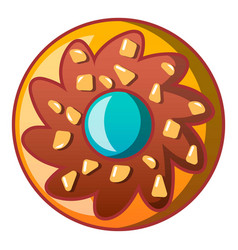 Choco flower biscuit icon cartoon style vector