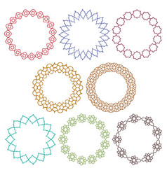 Colorful moroccan circle frames vector