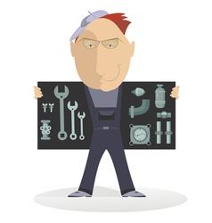 Comic mechanic vector image