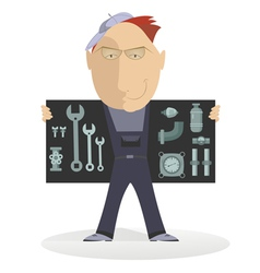 Comic mechanic vector