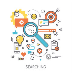 concept of searching vector image