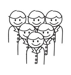 Corporate Team Work vector image