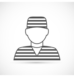Criminal avatar icon vector