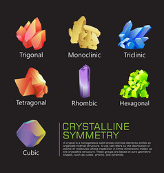 crystalline symmetry vector image