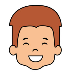 cute and little boy head vector image